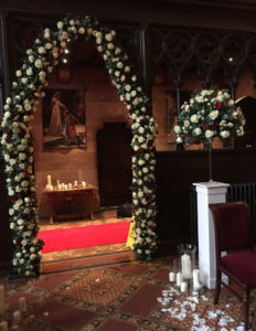 Wedding Flowers- pedestal stand hire and vase selection in chester.