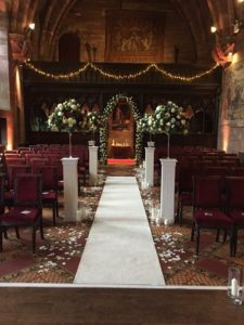 Wedding Flowers - Pedestal hire Chester